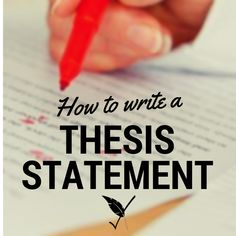 This is a super helpful guide to writing thesis statements! #writingtips