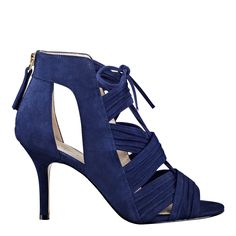 Blue Color Nine west latest-fashion of stiletto heels collection for women