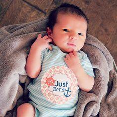 Newborn Baby Boy Monthly Bodysuit Sticker  Just by LucyDarlingShop, $2.00