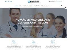 AT Hospital Joomla! template by Age Themes on @creativemarket