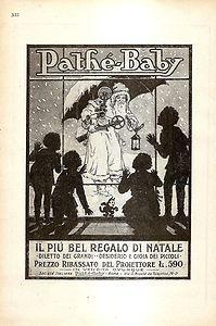 Pathé-Baby Projector vintage ad (1928)