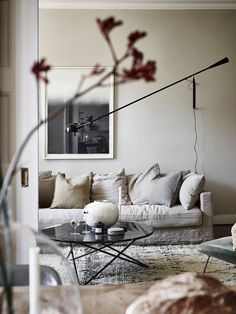 Relaxed Scandinavian Home in Velvet & Linen | house tour via coco kelley