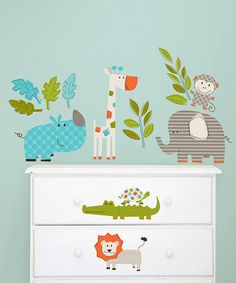 Let's Go On Safari Wall Decal Set by WallPops! on #zulily