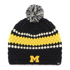 ece39140cf516 Michigan Wolverines Women s 47 Brand Leslie Knit Hat Detroit Game