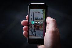 Detour Audio Tour App: it's location-aware. Using a combination of GPS and iBeacons, Detour can pinpoint where users are to ensure that they're listening to the correct part of any tour. the app's killer feature: Once you start a walk, you should never have to look at your phone. The narrator guides you from place to place, and you're able to move at your own pace, but there's no peeking at maps trying to decipher where you're supposed to go next.