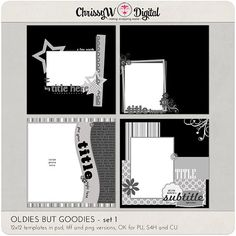 Oldies but Goodies - modèles de Scrapbooking numérique 12 x 12