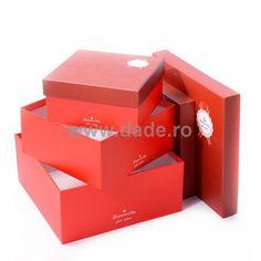 Set 4 cutii de cadou Especially for you, pe culoarea rosu-big Especially For You, Container, Big