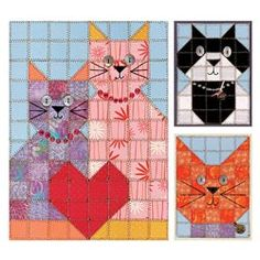 Paper Quilt Pattern-Love Cats