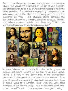 Creative Playground: Masterpiece Monday: Art 101 If Mona Lisa Were Alive Today