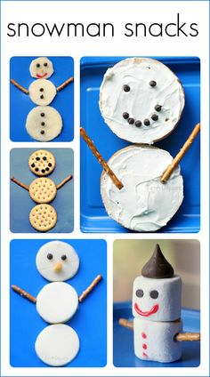 5 yummy snowman snack ideas for kids from Fun-A-Day!