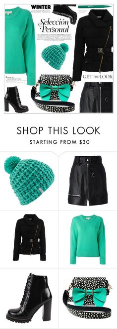 """""""GET THE LOOK"""" by ucetmal-1 ❤ liked on Polyvore featuring Coal, Isabel Marant, Versace, MICHAEL Michael Kors, Jeffrey Campbell, Betsey Johnson and Stila"""