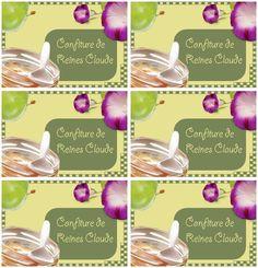 Étiquettes pour confiture de reines claude - Carterie Bilitis