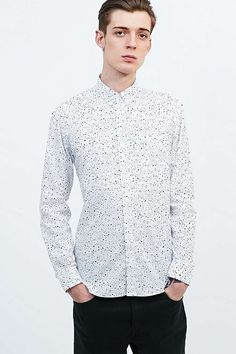 Selected Homme Shea Shirt in White - Urban Outfitters
