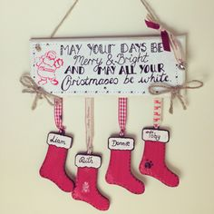 Started he Christmas plaques to sell