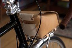 leather bike trunk