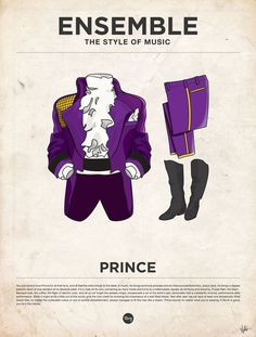 """EveryGuyed presents 'Ensemble: The Style of Music' a series of posters featuring Iconic Outfits from 20 Male Musicians. Designed by Glenn Michael of Moxy Creative House, and illustrated by James Alexander the prints are available"""