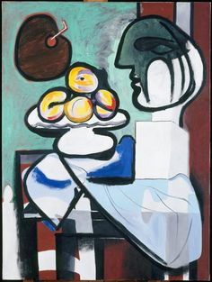 Still Life : Bust, Bowl, and Palette, Pablo Picasso