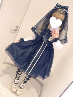 Gothic Nun Lolita with a touch of Circus