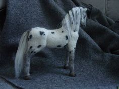 Needle felted Appaloosa horse by Jhoeymonster on Etsy, $150.00