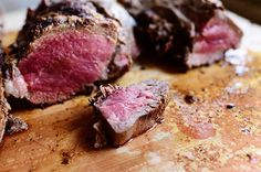 Ladd's Grilled Tenderloin--The Pioneer Woman. My beloved's grilled beef tenderloins are legendary, and he fixes them two or three times a year, whenever we have a gathering of friends or a special family occasion. Grilled Beef Tenderloin, Grilled Meat, Tenderloin Recipe, Grilled Steaks, Grilling Recipes, Beef Recipes, Cooking Recipes, Healthy Recipes, Healthy Meals