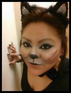 cat makeup for halloween | make up | Pinterest | Makeup, Cat and ...