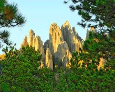 Needles formations in Custer State Park. More Black Hills attractions: http://www.midwestliving.com/travel/south-dakota/black-hills/striking-gold-a-fall-trip-to-south-dakotas-black-hills/#