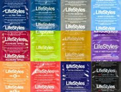 100 Lifestyles Condoms Variety Pack + Free Lubricant - Bulgeinbulk's Collection of 12 Different Types of Lifestyles Condoms by Bulgeinbulk. $21.75. Try up to twelve different styles of Lifestyles and discover a new favorite! Made from premium quality latex, lubricated for comfort and sensitivity. Lifestyles latex condoms are tested more than three times to insure they meet U.S. standards and provide you with a highly reliable product.