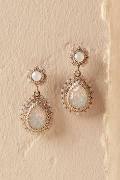 BHLDN Maria Opal Earrings in Shoes & Accessories Jewelry Earrings I Love Jewelry, Bohemian Jewelry, Modern Jewelry, Steel Jewelry, Luxury Jewelry, Opal Earrings, Bridal Earrings, Wedding Jewelry, Wedding Earrings Gold