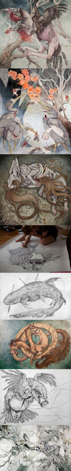 Les incroyables dessins et illustrations mythologiques de Caitlin Hackett. Cela se passe de commentaire,c'est juste du lourd !