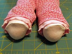 Sew in Peace: Ideas to Make Your Own Doll Clothes: socks for cabbage patch kids