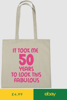 It Took Me 50 Fab Bag 50th Birthday Gifts Presents For Year Old Women Wife