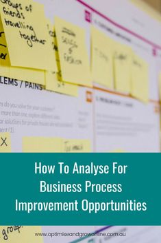 How To Analyse For Business Process Improvement Opportunities · Digital Marketing Tips Writing A Business Plan, Start Up Business, Business Planning, Business Goals, Business Management, Money Management, Project Management, Growth Mindset Quotes, Content Marketing Strategy