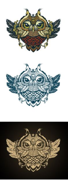 Owl by Sergey Kovalenko, via Behance