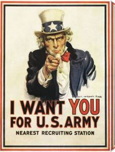 Uncle Sam: I Want You for the US Army by Military