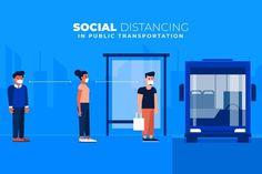 Social distancing in public transportati. Belleza Natural, Public Transport, Free Design, Transportation, Hair Salons, Ig Post, Vector Freepik, Scene, Create