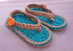 "Bizzy Crochet: NEW FREE Pattern!! ""Chubby Baby Flip-Flop Sandals"""
