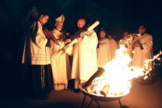 The Triduum: A Pilgrimage of Love by Michael Lavigne [Picture: Cardinal Seán at the Easter Vigil in 2012]