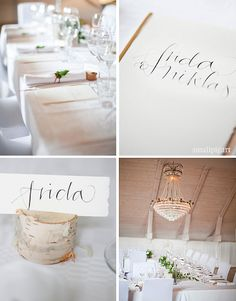 Love the calligraphy and mint leaf on the napkin