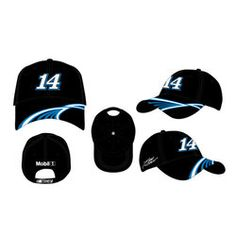 The #14 Tony Stewart Speed Slot men's hat features a large embroidered #14 in the center with a cool, intertwining line design on the brim. The back has an embroidered sponsor logo above the velcro closure. $21.50 #NASCAR #tonystewart #Sale #hats www.nascarshopping.net  we refuse to sell old left over nascar merchandise ONLY the latest products, for the latest sponsors THIS Racing season !!!