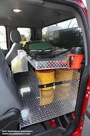 Work truck storage back seat toolbox