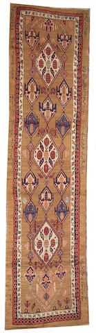 Serab runner  Central Persia,  late 19th century  size approximately 3ft. 3in. x 13ft. 4in.