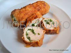 Куриные рулетики с сыром и шпинатом