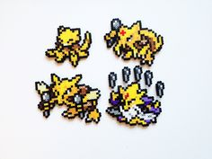 Pokemon Perler Abra / Kadabra / Alakazam / Mega by ShowMeYourBits