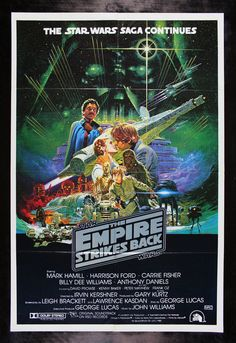 The Empire Strikes Back Movie Poster x 40 Inches - x Australian -(Mark Hamill)(Carrie Fisher)(Harrison Ford)(Billy Dee Williams)(Alec Guinness)(David Prowse) Film Star Wars, Star Wars Episoden, Star Wars Poster, Mark Hamill, Millennium Falcon, Harrison Ford, Chewbacca, Cuadros Star Wars, Space Opera