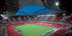 Estádio da Luz (The stadium of lights)  in the heart of Lisbon, Portugal and home to S.L. Benfica