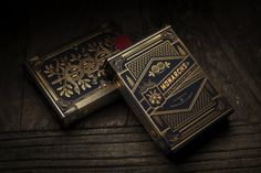 Gentleman's playing cards: Monarch Playing Cards. The depth of texture on these playing card makes me want to lick them.