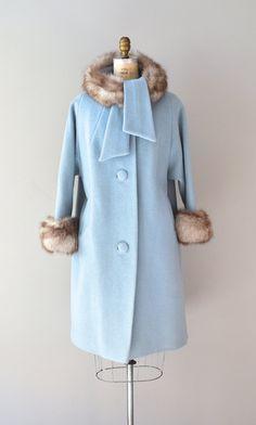 Lilli Ann coat / 1960s coat / fox fur / Cloudline by DearGolden, $435.00