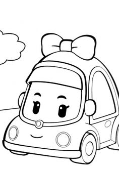 How to Draw Mini from Robocar Poli step by step, learn drawing by this tutorial for kids and adults. Colouring Pages, Printable Coloring Pages, Coloring Sheets, Coloring Books, Robocar Poli, Pastel Colour Palette, Cartoon Tv, Hand Embroidery Patterns, Step By Step Drawing