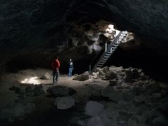 Newberry Lava Caves in the Newberry Crater National Monument, Central Oregon