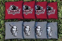 Indiana Kokomo Cougars Team Logo Cornhole Replacement Bag Set